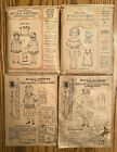 4 Antique 1908 McCall Doll Clothes Sewing Patterns in Envelopes