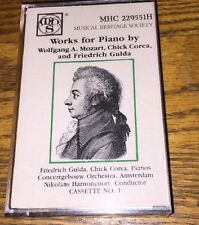 Wolfgang A. Mozart Works For Piano Cassette New!
