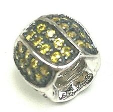 Chamilia Jeweled Petals Sterling Silver Bead with Yellow Cubic  Zirconium