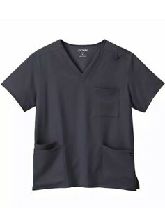Jockey MENS Scrubs Style Size Large Black And Blue Top Matching