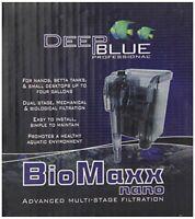 Fish Tank Filter w/ Adjustable Flow for 5 Gallon & Smaller Aquariums - Deep Blue