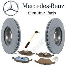 NEW Front Brake Pad Set & 2 Disc Rotors Sensor OES For Mercedes W204 C207 W212