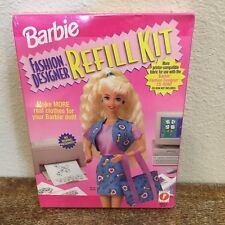 Vtg Barbie Fashion Designer Refill Kit New 1996 Make 8 Real Outfits No Sewing