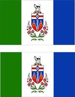 2x Adhesivo adesivi pegatina sticker vinilo bandera canada yukon