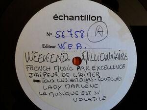 """WEEK-END MILLIONNAIRE¤WEA 56.758""""French music par excellence"""" PROMO Echantillon¤"""