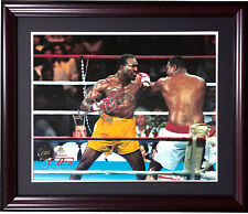 Evander Holyfield boxer signed 8x10 photo framed  ins autograph holo coa
