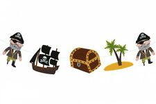 Pirata Fieltro EMPAVESADO Garland-Para Niños, sala de decoración - 190cm Treasure Chest