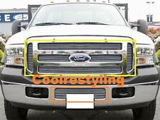 For 2005 06 07 Ford F250 F350 F450 Excursion Billet Grille Combo Inserts