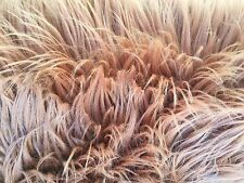 """Bronze Luxury Long Pile Faux Shag Fur Fabric - Sold By The Yard - 60"""""""