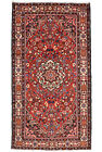 Vintage Persìan Malayer 5'x10' Red Wool Hand-Knotted Oriental Rug