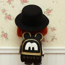 """Black Backpack Bag Prop For 12"""" Neo Blythe Doll G&D"""