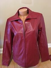 Cato's Faux Leather Jacket Women's Size M Red EUC Worn Once