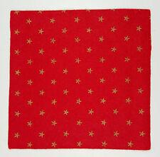 Christmas Felt Gold Stars on Festive Red  15cm Squares
