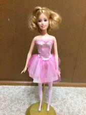Ballerina Barbie Doll Pink Tulle Ballet Strapless Dress Blonde Pony Tail Hair