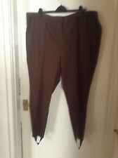 Ladies Brand New brown Magi-waistline stirrup trousers size 28