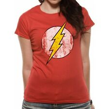 The Flash - Logo Fitted T-shirt Red XX-Large - Brand New!