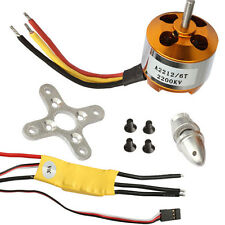 1Set RC 2200KV Brushless Electric Motor 2212-6 + 30A ESC for rc plane helicopter