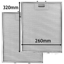 2 Metal Mesh Filters For IGNIS Cooker Hood Vent filter 320 x 260 mm