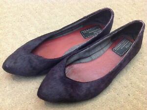 Bertie Purple Pony Hair Shoes - Size 6