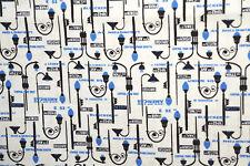 Port City LIght Posts  Cotton Quilt Fabric Rob Bancroft By the yard    BFab