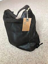 TIMBERLAND Dark Brown Leather Hobo Bag New