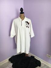 Men's Ecko Unltd White Polo w/Brown Emblem Size 2X