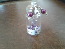 Message in a Bottle You're A Star Choose Bead Colour Ideal Gifts/ Wedding Favour