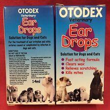 2 x Veterinary Otodex Ear Drops Cat Kills Mites Soothes Irritation Clears Wax