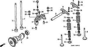 Genuine Honda Exhaust valve suit TRX250