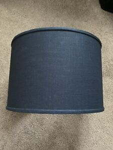 Ballard Designs Navy Linen Lamp Shade Large