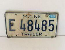 MAINE TRAILER LICENSE PLATE/TAG ~E 48485~