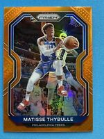 2020-21 Panini Prizm Basketball NBA Matisse Thybulle Orange Prizm #258 76ers /49
