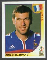 PANINI WORLD CUP 2002 ZINEDINE ZIDANE STICKER NO 38