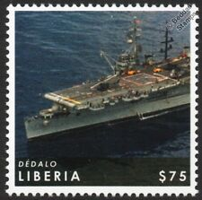 Dédalo (ex-USS CABOT CVL-28) Spanish Aircraft Carrier WWII Warship Stamp