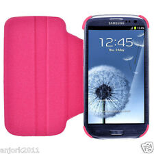 Samsung Galaxy S3 III Flip Case w/ Rotate Stand Cover Accessory Hot Pink
