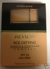 Revlon Age Defying Makeup & Concealer Compact HONEY BEIGE NEW.