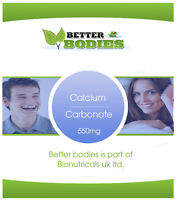 Calcium Carbonate 550mg Upset Stomach Bones Teeth Tablets Free Delivery