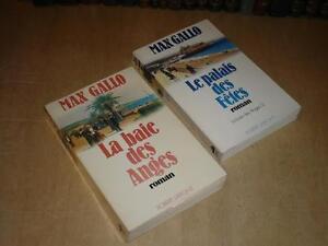 MAX GALLO / LA BAIE DES ANGES I & II Cplet 2 VOLUMES / 1976 Le Palais des Fetes