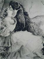 Rare curiosa Paul-Emile Bécat gravure parfait état Belle époque
