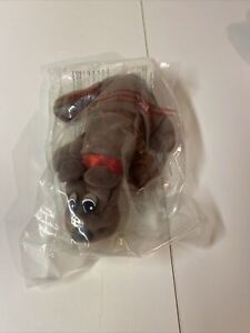 Vintage Pound Puppies Brown  Dog - Tonka 1986 Puppy 7 inches new