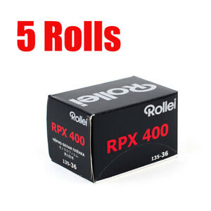 5 Rolls Rollei RPX400 35mm 135-36exp Black&White Film Fresh 08/2025
