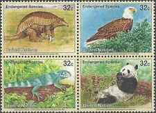 Timbres Animaux Nations Unies New York 669/72 ** année 1995 lot 21971