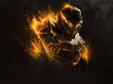 """Halo 1 2 3 4 5 Hot Game Fabric poster 32"""" x 24"""" Decor 5-20"""