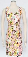 Jessica Simpson Flower Print Cotton Shift Dress Size 14 Women's New  *