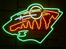 "Minnesota Wild Hockey NHL Real Glass Handmade Neon Sign 20""x16"""