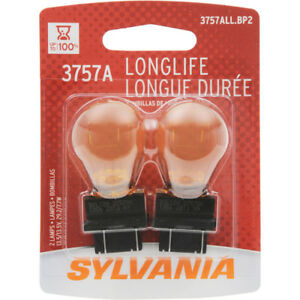Turn Signal Light Bulb-Amber Long Life Blister Pack TWIN Sylvania 3757ALL.BP2