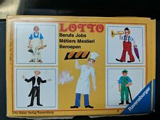 Lotto Game by Ravensburger Jobs Occupations Picture Match 1986 Vintage Complete