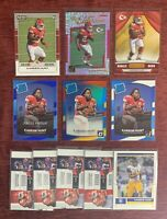 Lot of (11) Panini Donruss Optic KAREEM HUNT Red Yellow Holo Rated Rookie RC🔥