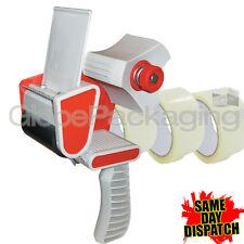 1 PACKING TAPE GUN DISPENSER 50mm & 3 ROLLS CLEAR TAPE