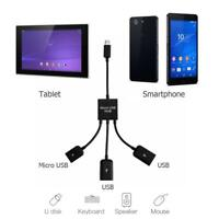 3 in 1 Micro USB Power Charging Host OTG Hub Cable Adapter for Samsung NOTE 2